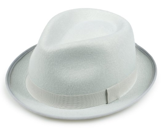 Chapéu Fedora Gelo Feltro Aba Curta Edição Limitada