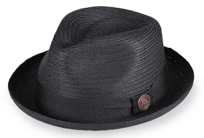Chapéu Fedora Palha Marrom Aba Curva Curta 4cm - Compre com quem é ... d7204eb53ea