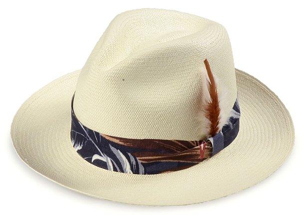 Chapéu Panamá Aba Média 7cm Montecristi Flower Pena