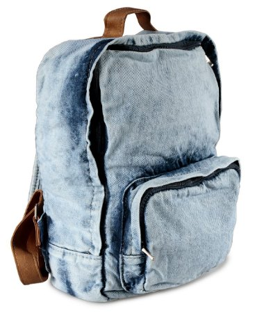 Mochila Jeans Azul Claro Mesclado