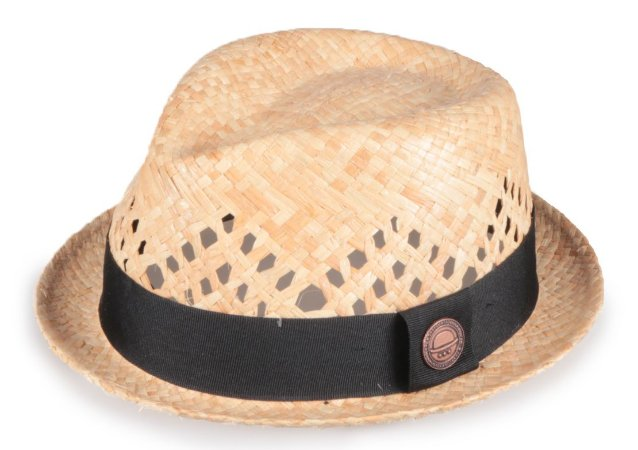 Chapéu Fedora Fibra de Côco Aba Curta Vazado 4cm