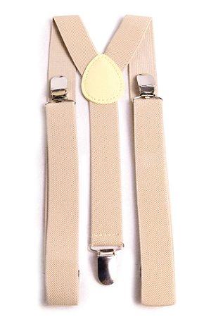 Suspensório Unissex Creme 2,5 cm
