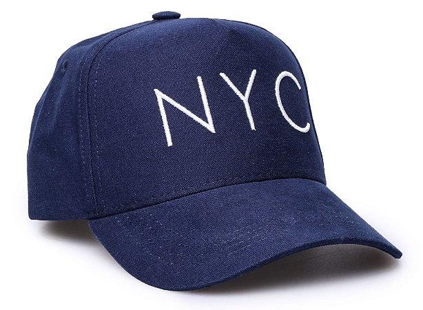 Boné NYC Azul Aba Curva