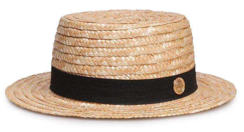 Chapéu Palheta Palha Dourada Aba 5cm TG