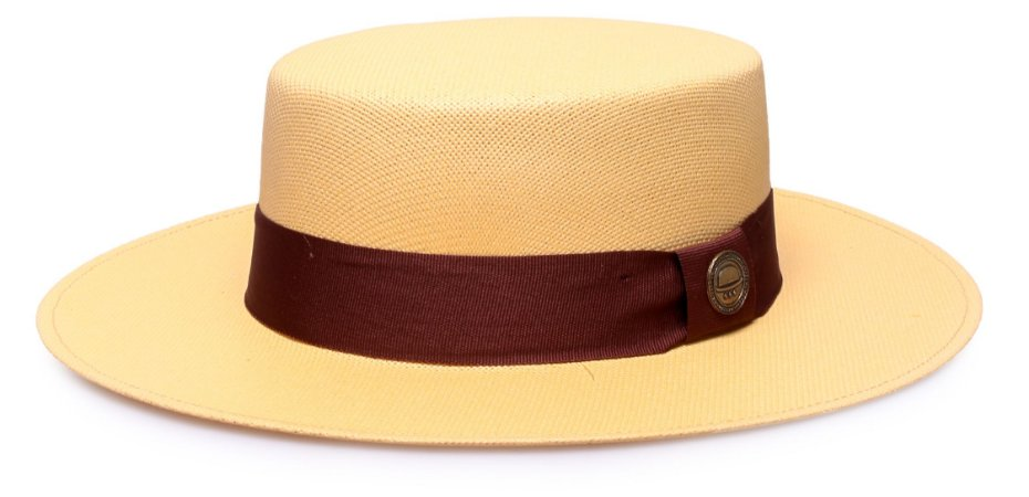 Chapéu Palheta Bege Gold Aba 7cm Palha Cairo Unissex