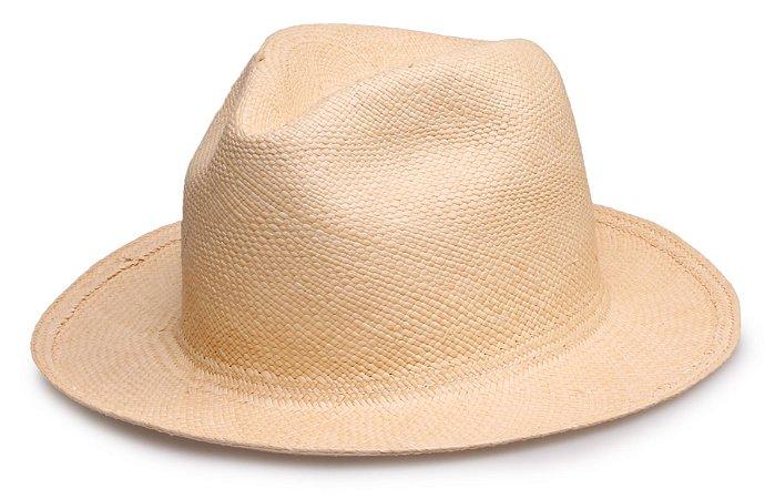 Chapéu Panamá Bege Montecristi Liso