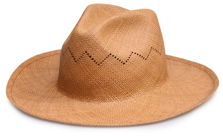 Chapéu Panamá Caramelo Aba grande Vazado Liso