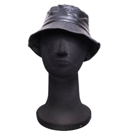 Chapéu Bucket Preto Couro