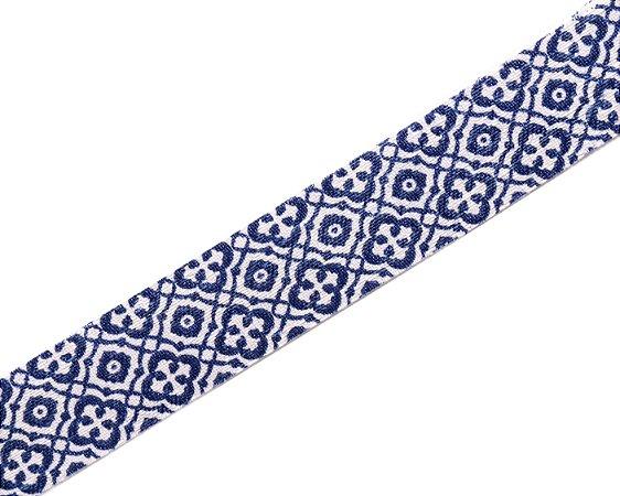 Faixa Estampada Azul e Branco Ethnic