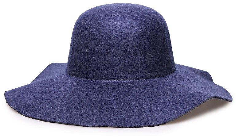 Chapéu Floppy Azul Marinho Liso