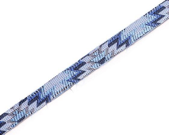Faixa Tecido Estampado Azul