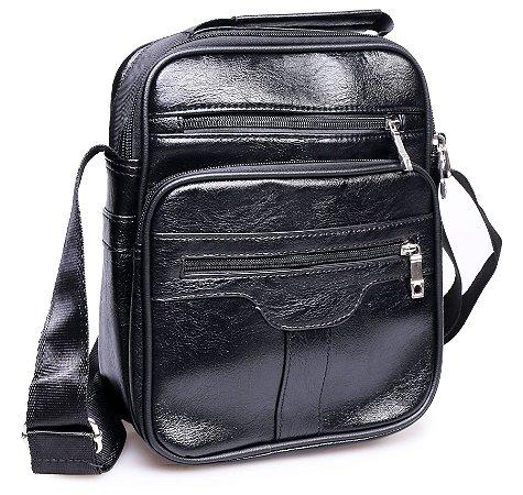 Shoulder Bag Couro Preta