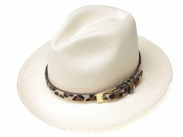Chapéu Panamá Aba Grande Onça Customizado