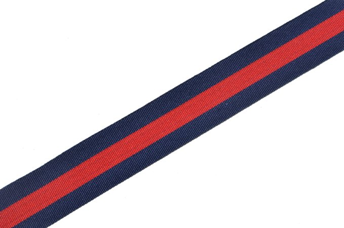 Faixa Listrada Listrada Azul Marinho e Vermelha Coleção Stripes I
