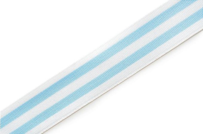 Faixa Azul Bebê e Branca I Coleçao Stripes