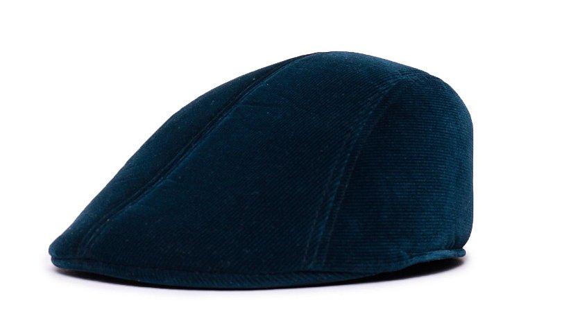 Boina Italiana Veludo Azul Marinho