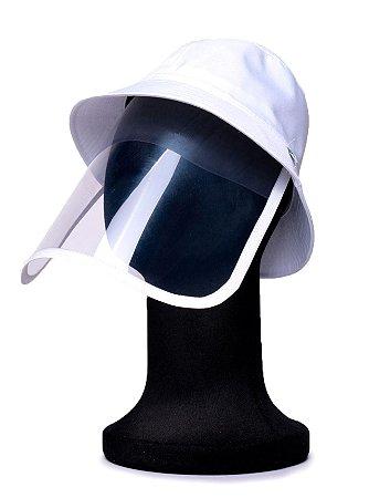 Chapéu Bucket Branco com Proteção