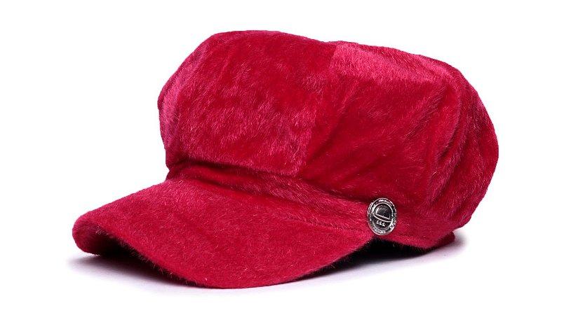 Boina Oito Gomos Vermelha Plush Feminino