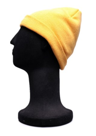 Touca Curta Amarela Lisa
