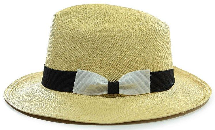 Chapéu Panamá Aba Média Laço Custom