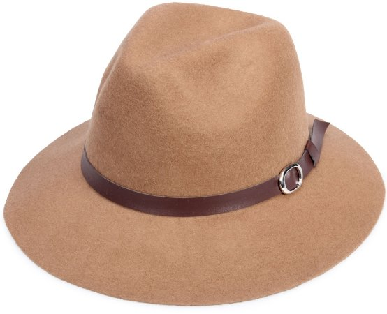 Chapéu  Fedora Caramelo Aba Curta Maleável 100% Lã