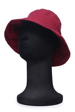 Chapéu Bucket Vinho Maleável
