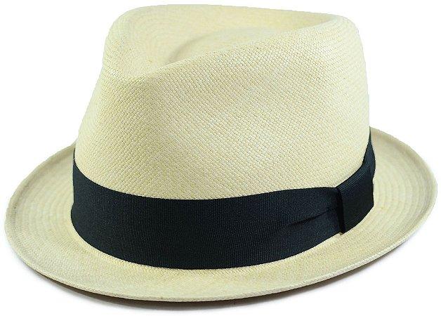 Chapéu Panamá Aba Curta Areia