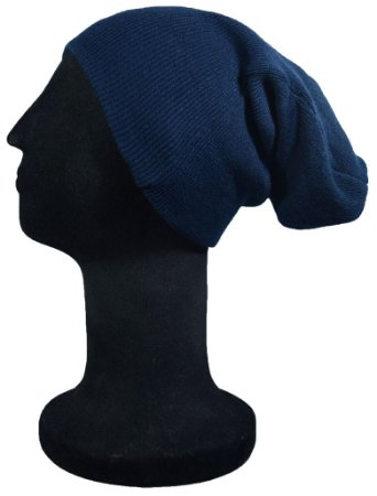 Touca Gorro Lã Azul Marinho