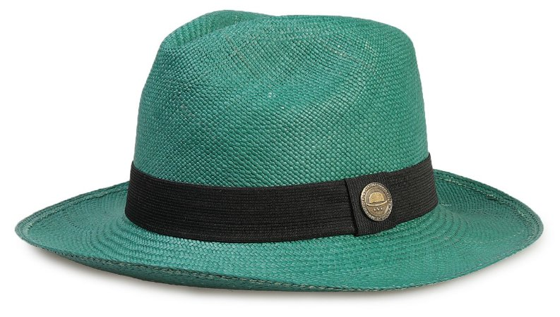 Chapéu Panamá Colorido Verde Aba Média - Compre com quem é ... 376509a247a