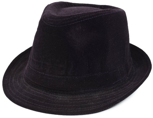 Chapéu Fedora Veludo Aba Curta Roxo