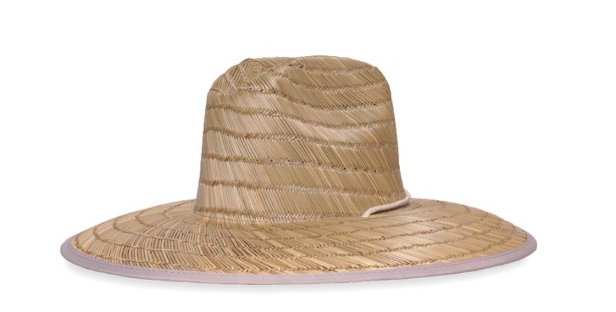 Chapéu de Palha Bamboo Surf Aba Grande Tecido Bege