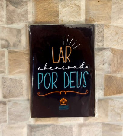 Placa Decorativa para Parede - Lar Abençoado Por Deus