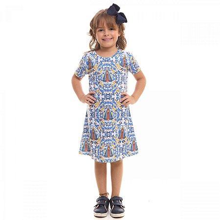 Vestido Infantil Nossa Senhora Aparecida