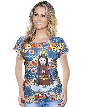 Baby Look Nossa Senhora Aparecida - Coleção Ágape