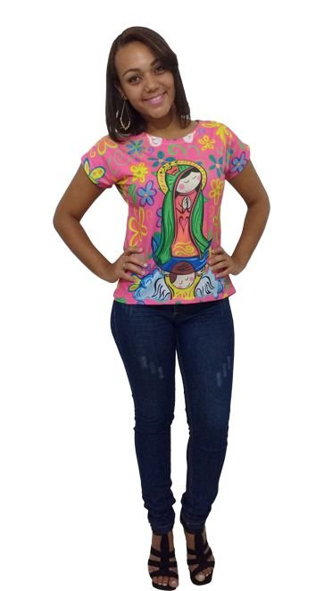 T-shirt Adulto Rosa -  Nossa Senhora
