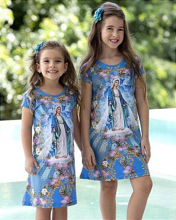 Vestido Infantil Nossa Senhora das Graças - Coleção Ágape