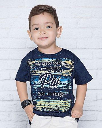 Camiseta Infantil Meu Pai Está Comigo - Coleção Ágape