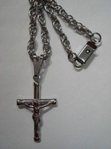 Cruz e Cordão Aço / Inox
