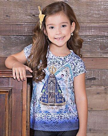 Baby Look Infantil Nossa Senhora Aparecida - Coleção Ágape