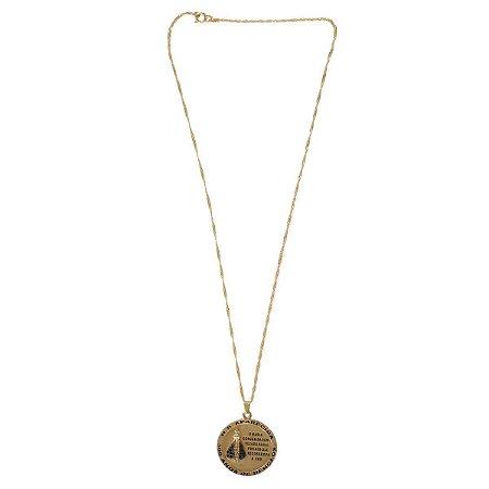 Medalha Nossa Senhora Aparecida 300 Anos (Com Corrente)