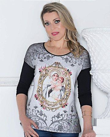 Blusa 3-4 Mãe Rainha - Coleção Pedraria