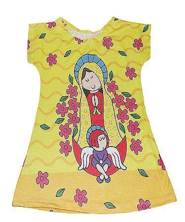 Vestido Infantil Amarelo -  Nossa Senhora