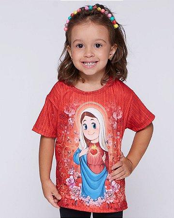Blusa Infantil Imaculado Coração de Maria