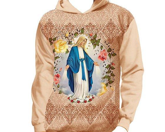 Moletom Infantil e Juvenil Nossa Senhora das Graças - Capuz e Bolso