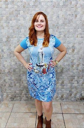 Vestido Nossa Senhora de Fátima - Coleção Pedraria