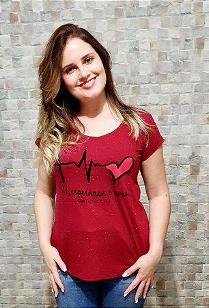 T-Shirt  Flocado - Fé, Esperança e Amor
