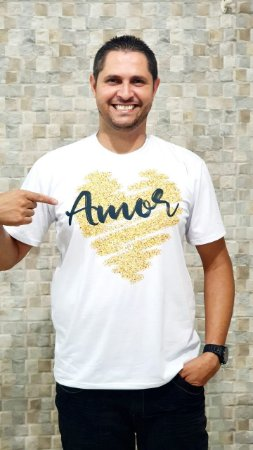 Camisa Amor - Masculina Adulto