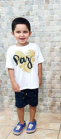 Camisa Paz - Infantil Menino