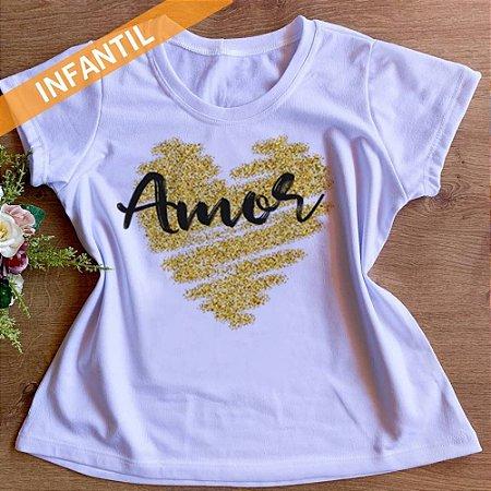 Camisa Amor - Infantil Menina