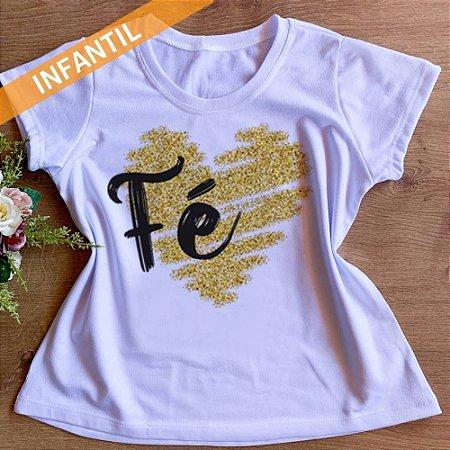 Camisa Fé - Infantil Menina